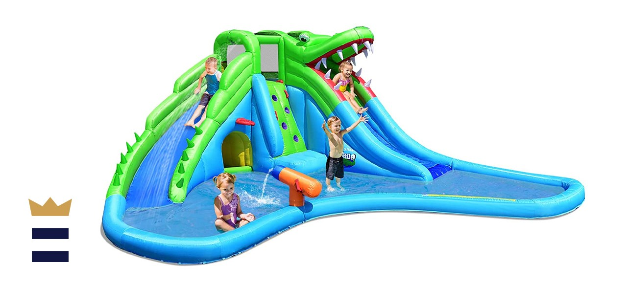 Costzon Giant 7-in-1 Crocodile Water Park