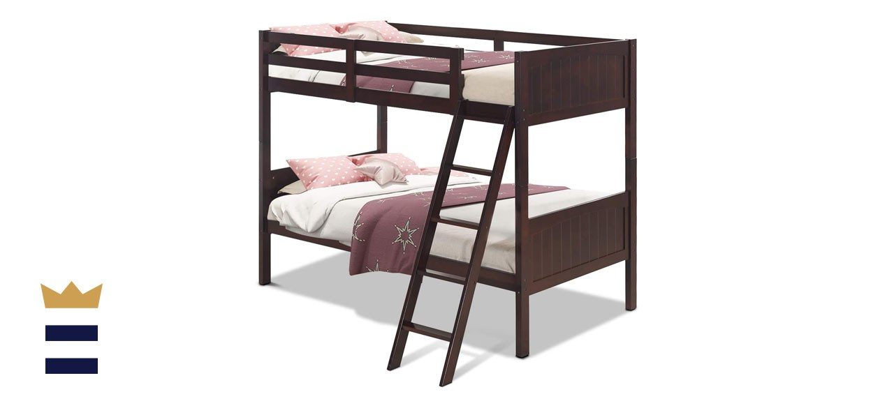 Costzon Wooden Twin Over Twin Convertible Bunk Beds for Kids
