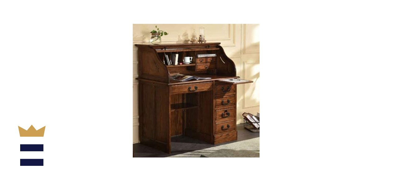 Country Marketplace Small Home Office Roll Top Desk