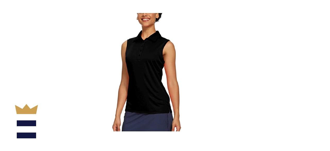 CQC Women's Sleeveless Polo Athletic Tank