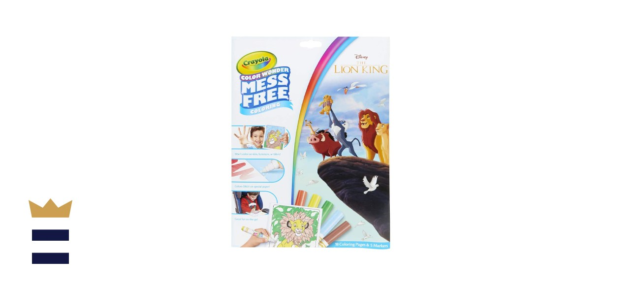 Crayola Lion King Pages & Markers Color Wonder Pad and Markers