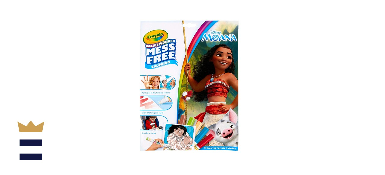 Crayola Wonder Mess-Free Moana Coloring Pages