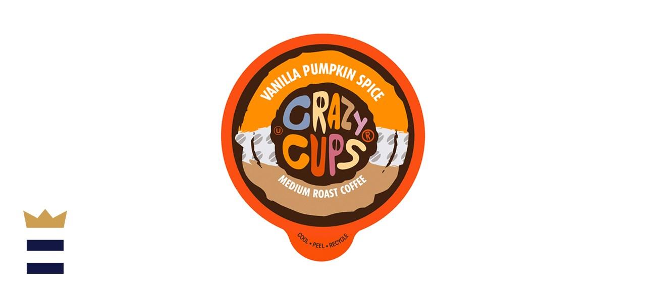 Crazy Cups Vanilla Pumpkin Spice Flavored Coffee Pods