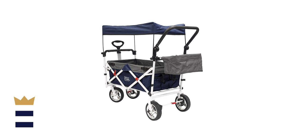 Creative Outdoor Push Pull Collapsible Folding Cart