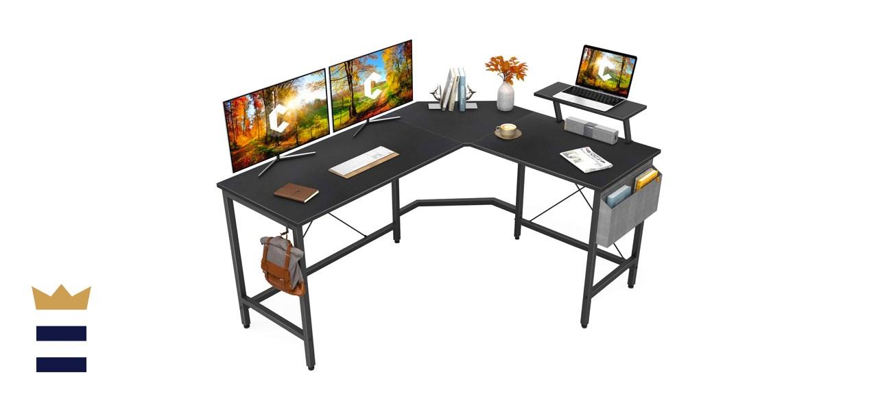 Cubiker Modern L-Shaped Computer Office Desk, Corner Gaming Desk
