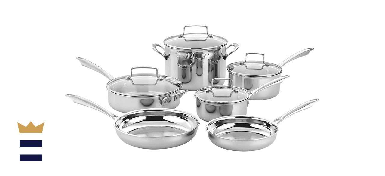 Cuisinart 10 Piece Classic Tri-ply Stainless Steel Cookware Set