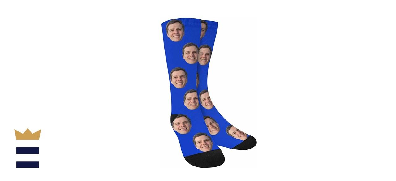 Custom Faces Print Sublimated Crew Socks