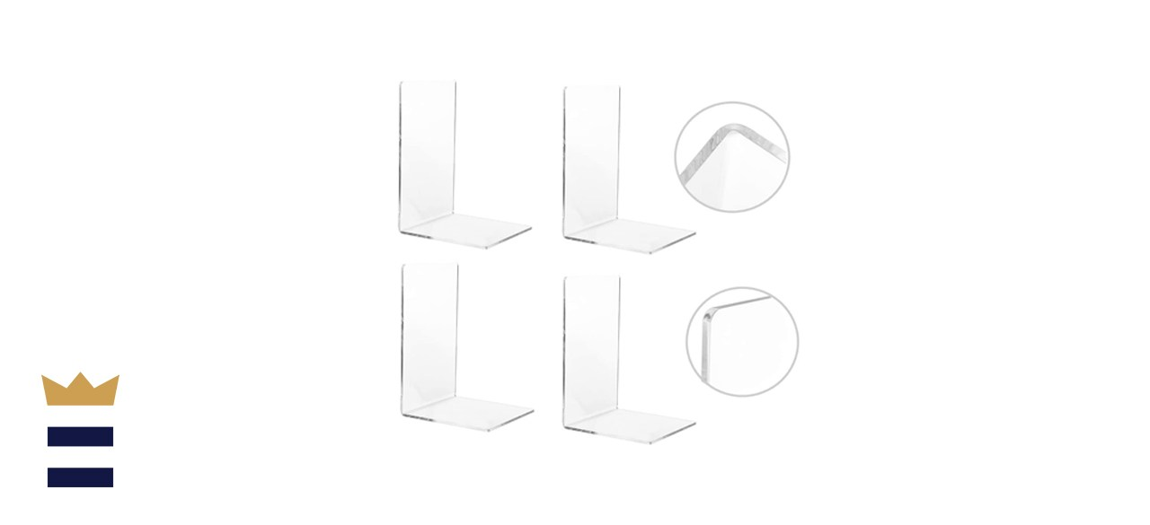 CY craft Set of 4 Clear Acrylic Bookends