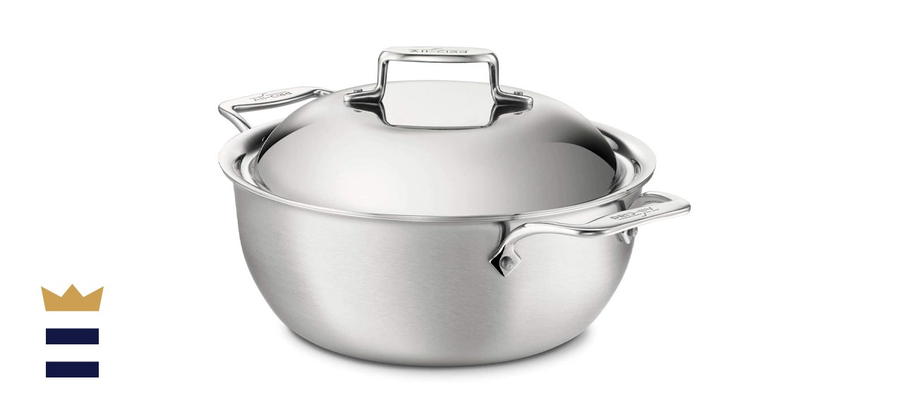 All-CladD5 Brushed 18/10 Stainless Steel 5-Ply Bonded Dutch Oven