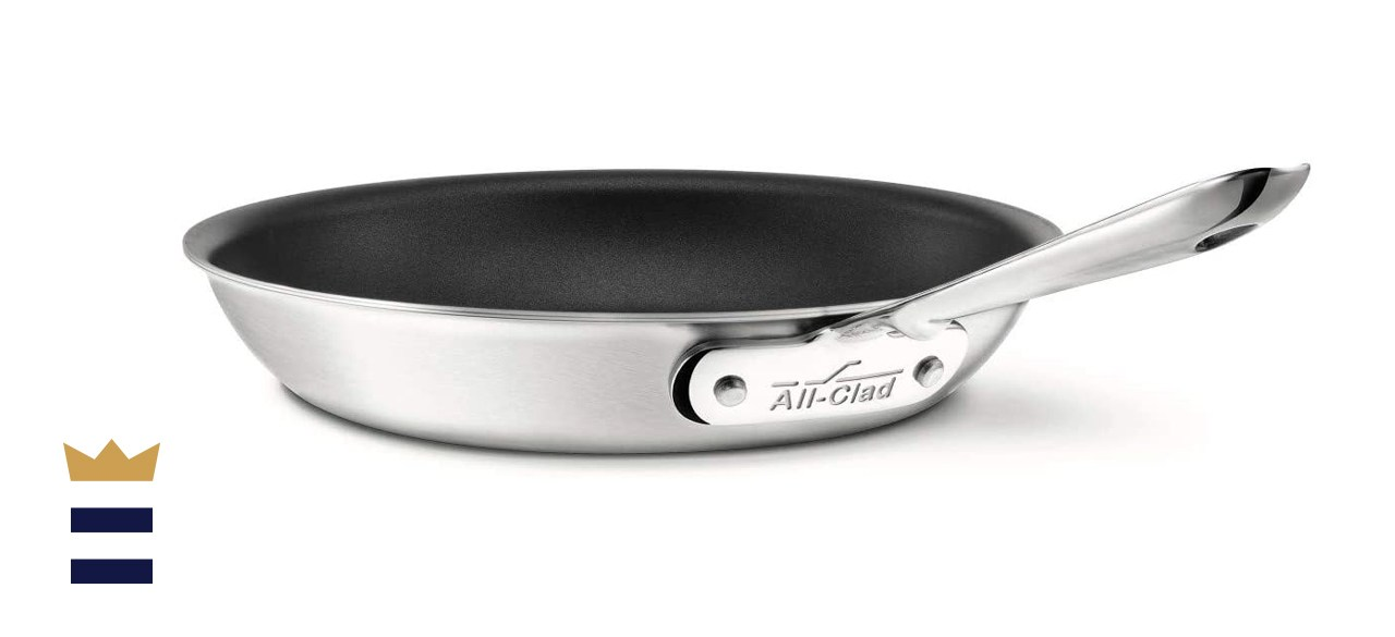 All-Clad D5 Brushed 18/10 Stainless Steel 5-Ply Bonded Fry Pan Saute Pan Cookware