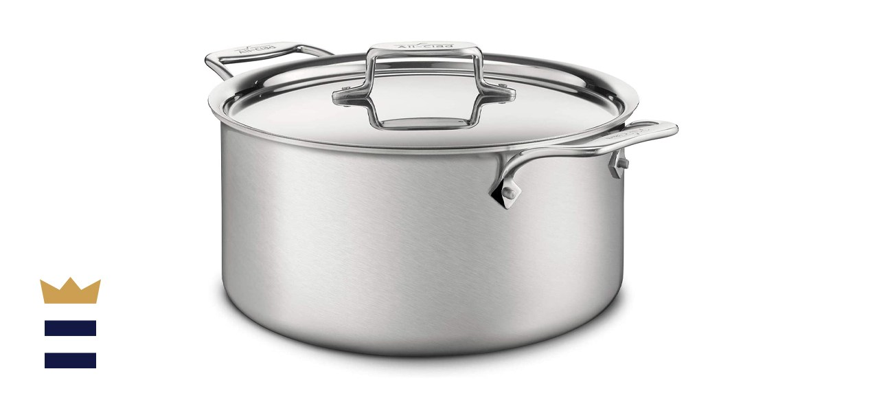 All-Clad D5 Brushed 18/10 Stainless Steel 5-Ply Bonded Stockpot Cookware