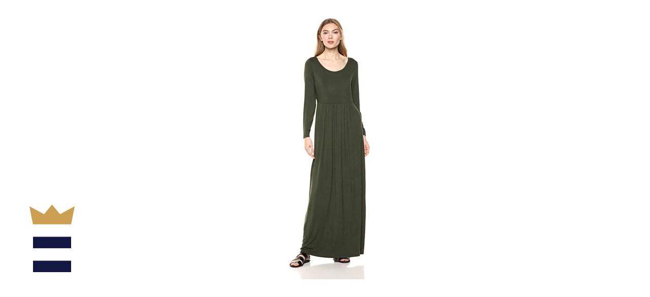 Daily Ritual Jersey Long-Sleeve Empire Waist Maxi Dress