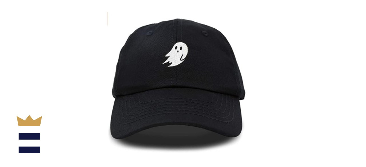 DALIX Dad Halloween Hat Cap Embroidered with Simple Ghost On Front