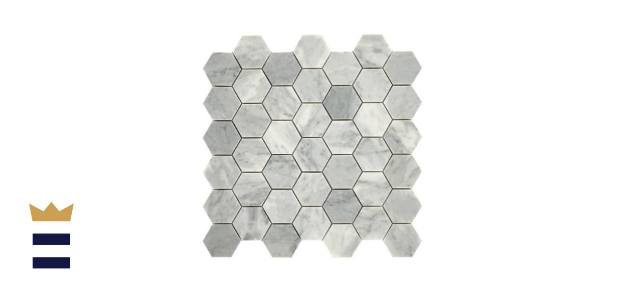 Daltile Restore Mist Honed Marble Mosaic Tile