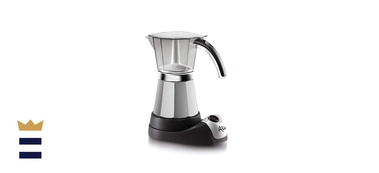 De'Longhi Italian Moka 6-Cup Stainless Steel Electric Espresso Maker