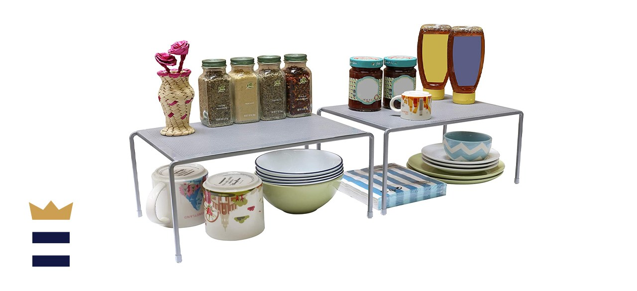 DecoBros Expandable Stackable Kitchen Cabinet and Counter Shelf Organizer