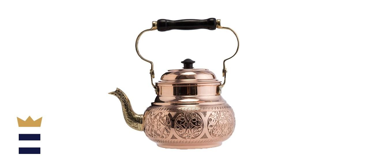 Demmex Engraved Solid Copper Teapot