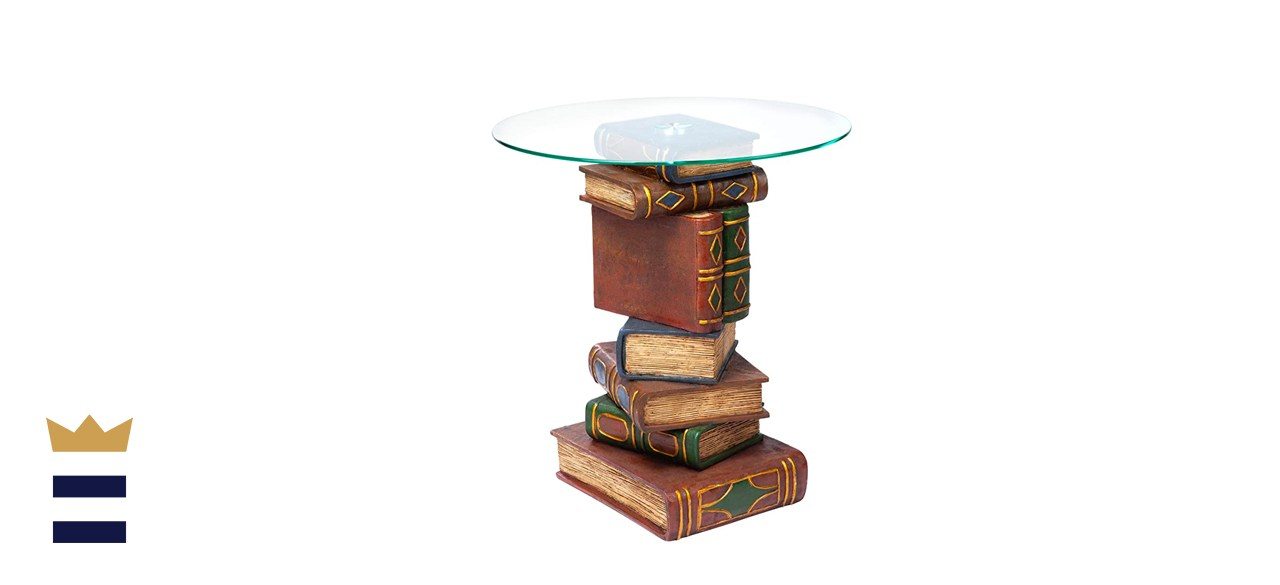 Design Toscano Stacked Book Volumes Vintage Decor End Table
