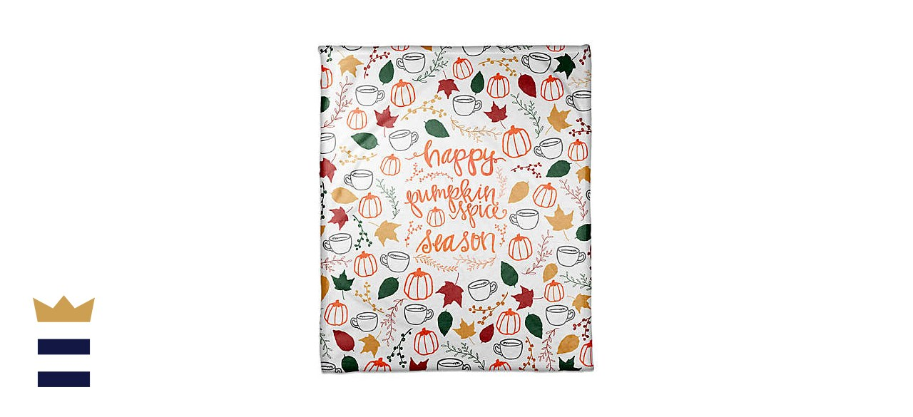 Designs Direct Happy Pumpkin Spice Season Throw Blanket