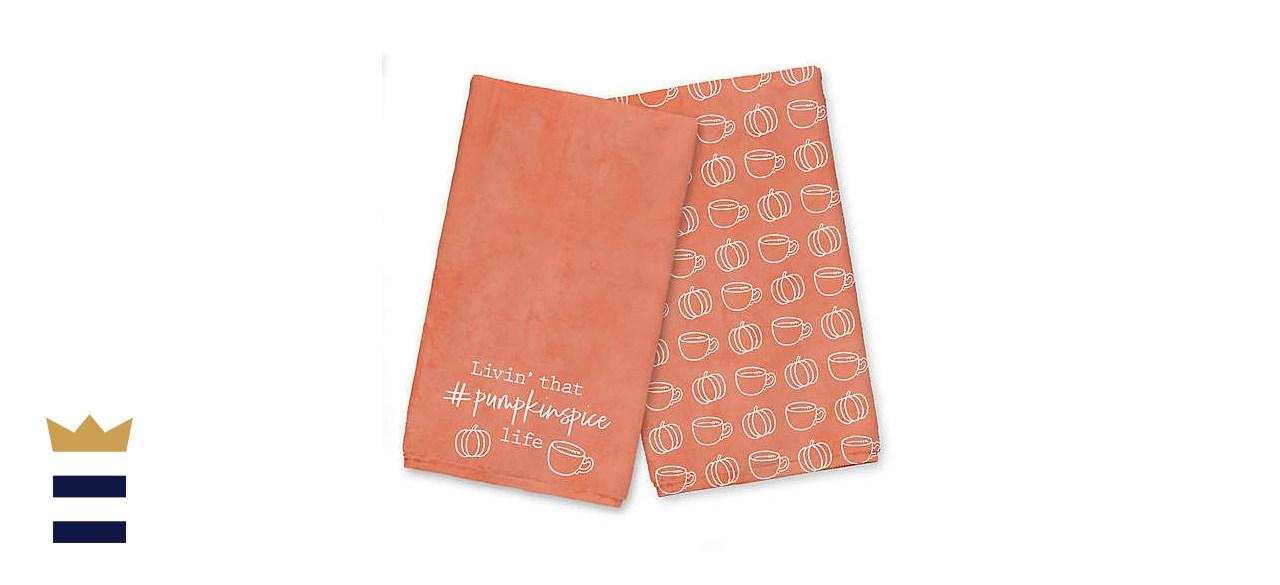 Designs Direct Livin' That Pumpkin Spice Life Tea Towel Set