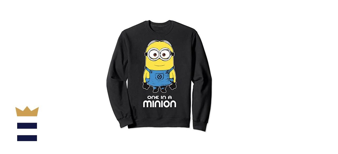 Despicable Me Minions One In A Minion Happy Portrait Sweatshirt