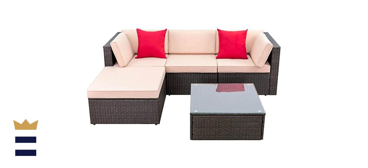 Devoko 5 Pieces Outdoor Patio Furniture Set