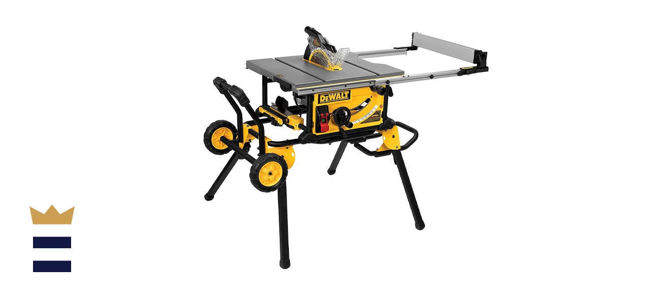 Dewalt 15 Amp Corded Job Site Table Saw with Rolling Stand