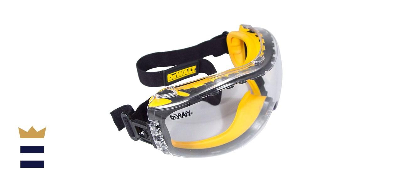 DEWALT Concealer Safety Goggle with Clear Anti-Fog Lens