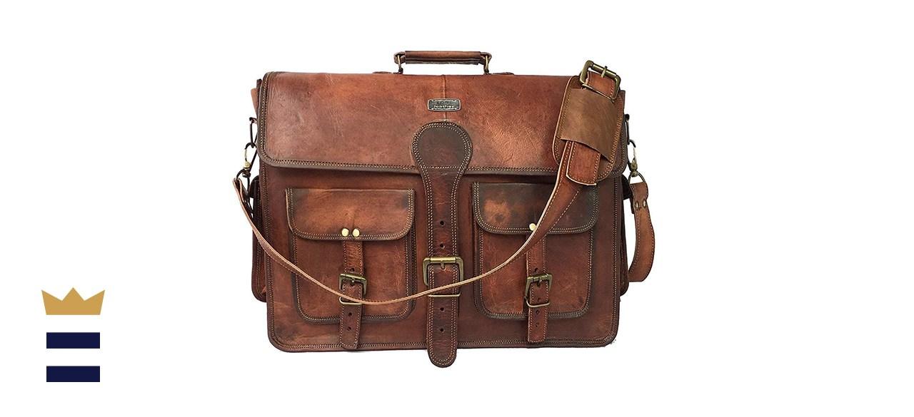DHK Vintage Handmade Leather Messenger Bag