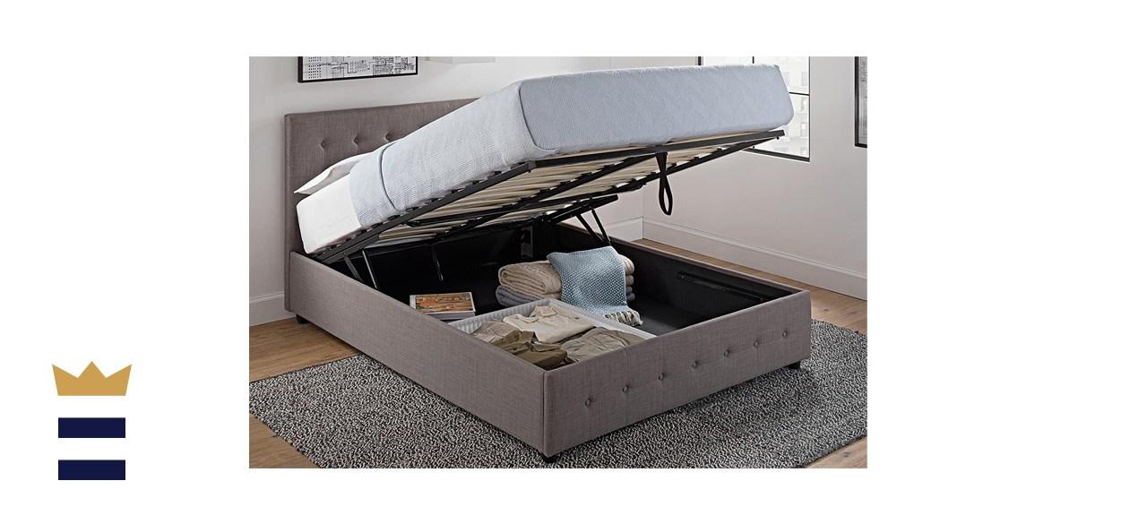 DHP Cambridge Upholstered Linen Platform Bed