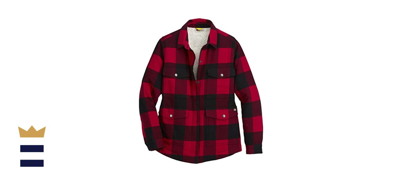 Dickies flannel sherpa lined coat