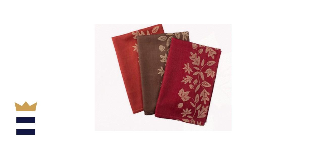 DII Design Imports Harvest Vine Jacquard Dish Towel Set