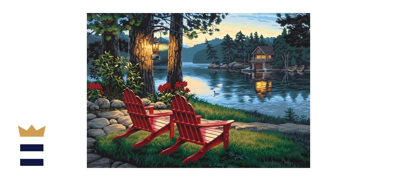 Dimensions Adirondack Evening Paint By Numbers Kit
