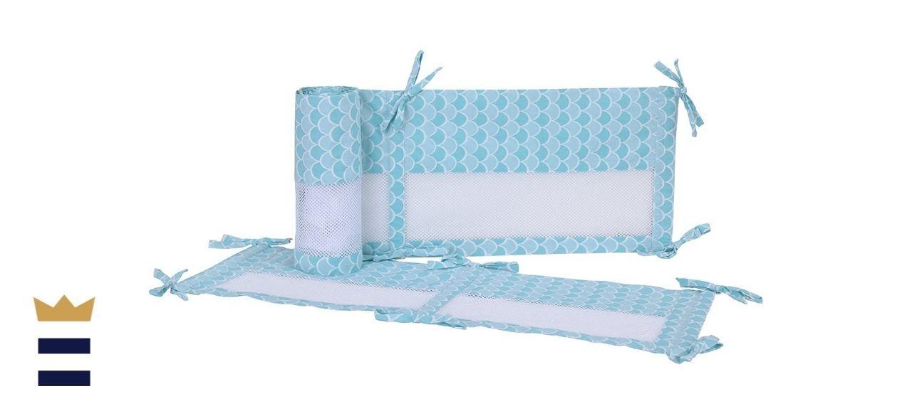 Disney Ariel Sea Princess Secure-Me Crib Liner, Blue/Aqua