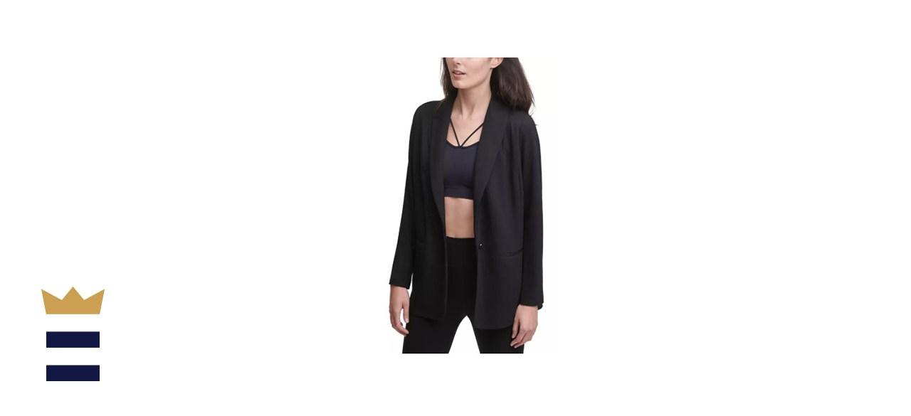 DKNY Soft-Knit One-Button Blazer