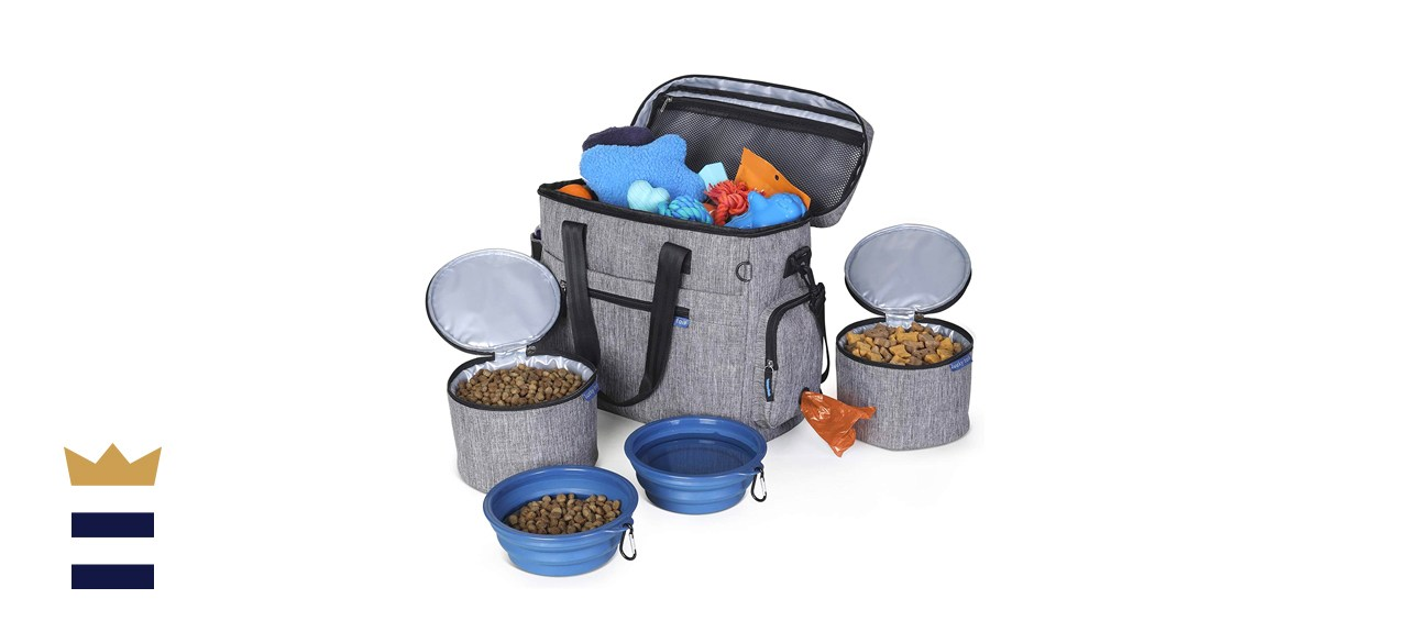 Lucky Tail Dog Travel Bag for Supplies