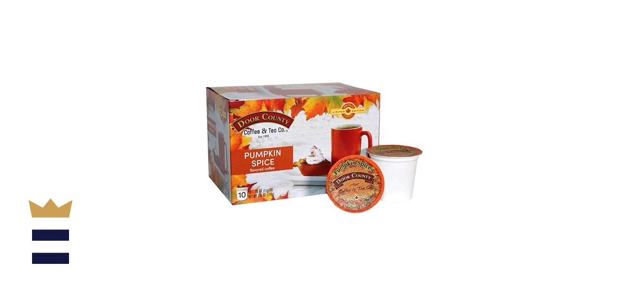 Door County Coffee Tea Co Pumpkin Spice - 10 Count