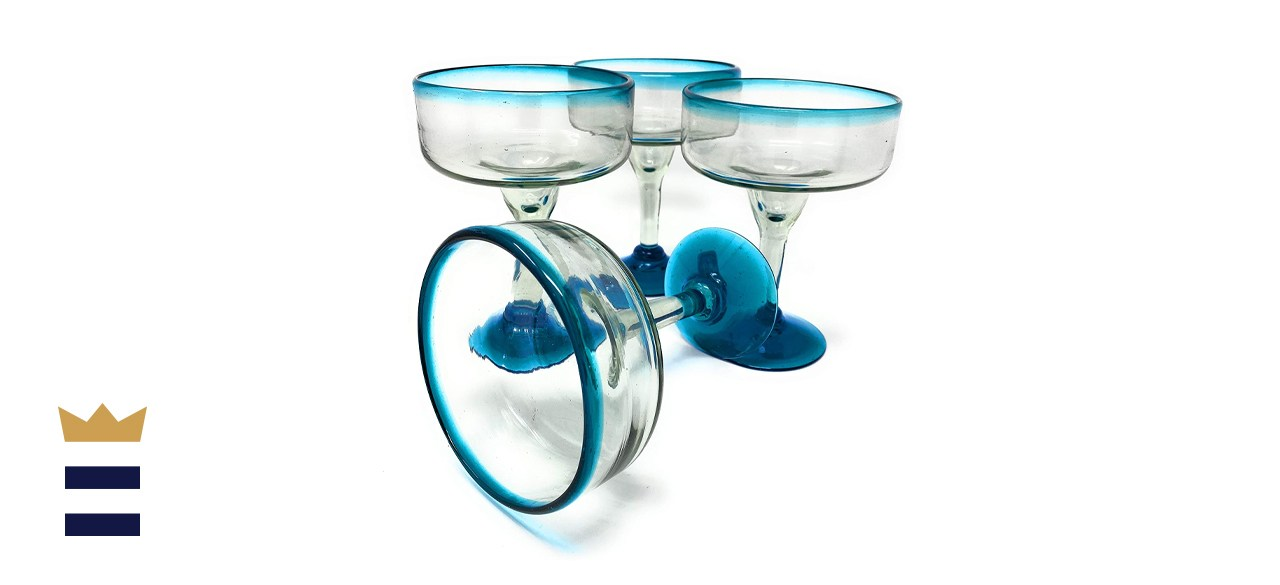 Dos Sueños Hand Blown Glass Margarita Glasses