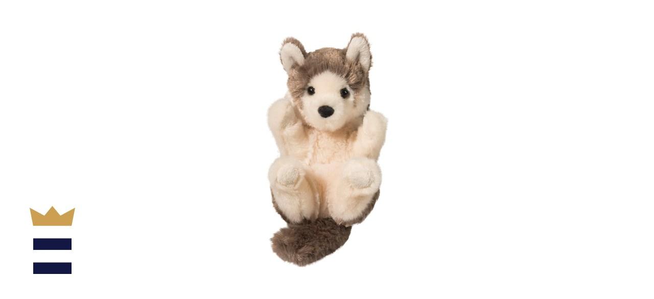 Douglas Gray Wolf Lil_ Handful Plush Stuffed Animal