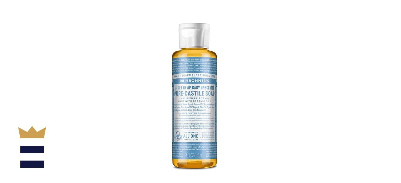 Dr. Bronner's Pure Castile Unscented Liquid Soap