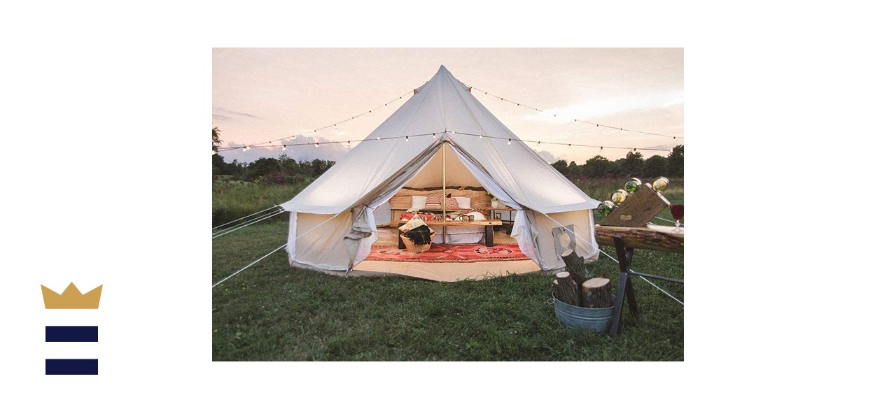 Dream House Outdoor Waterproof Cotton Canvas Camping Family Bell Tent