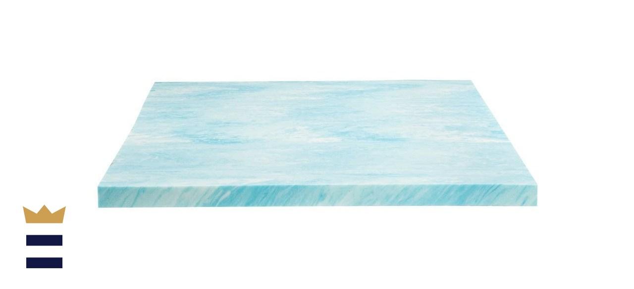 Dreamfoam Bedding 2-Inch Gel Swirl Memory Foam Mattress Topper