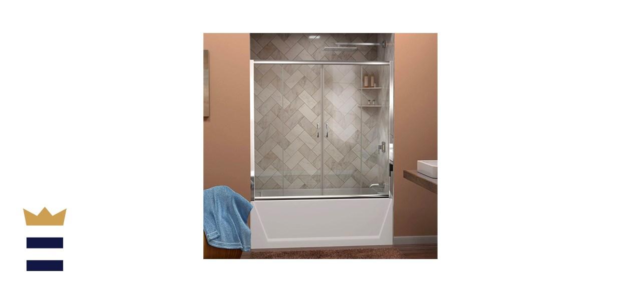DreamLine Visions 56-60-Inch Semi-Frameless Sliding Tub Door