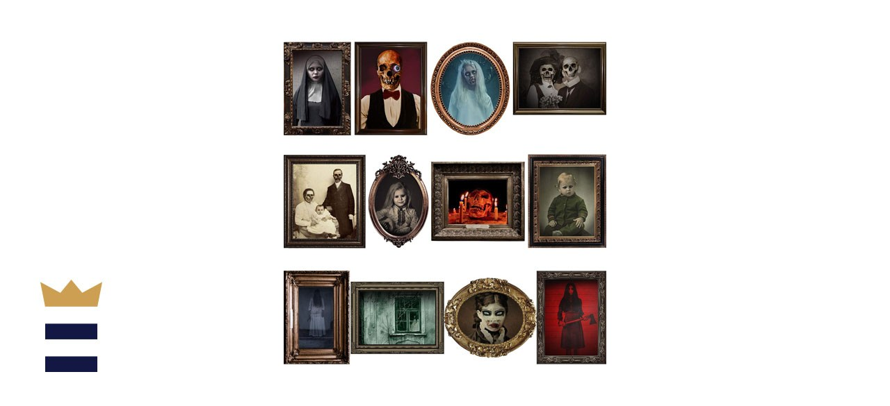 Duaiai Halloween Haunted House Creepy Portraits