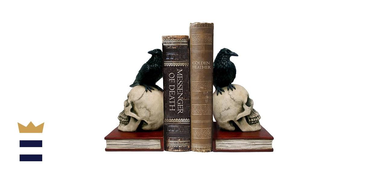 DWK Ravens on Skulls Bookends