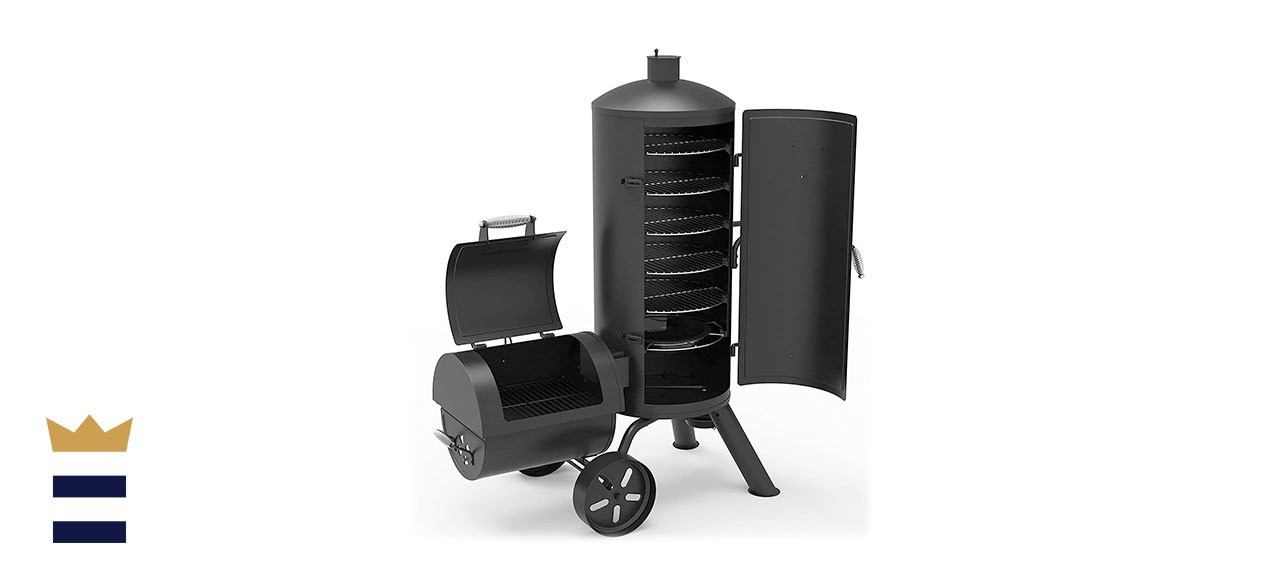 Dyna-Glo's Heavy-Duty Vertical Offset Charcoal Smoker