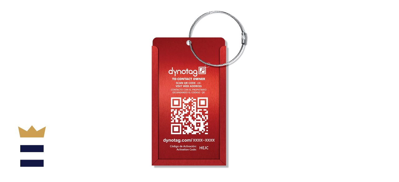 Dynotag Web Enabled Smart Aluminum Convertible Luggage ID Tag