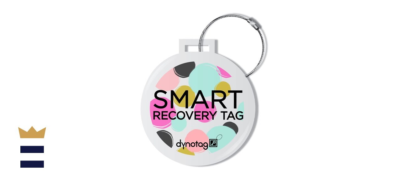 Dynotag Web Enabled Smart Deluxe Steel Luggage ID Tag