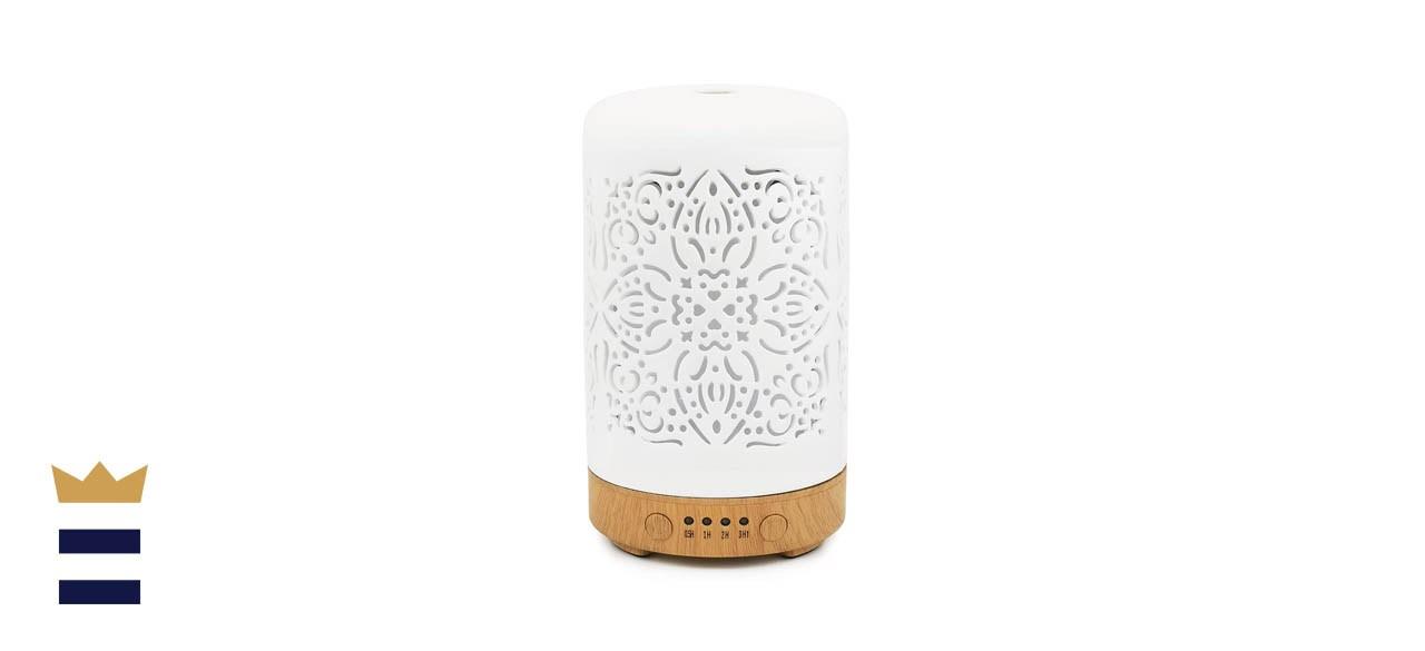 Earnest Living White Ceramic Essential Oil Diffuser