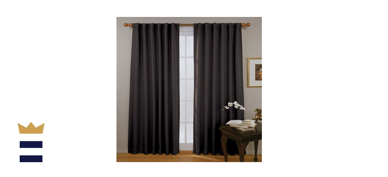 ECLIPSE Fresno Thermal Insulated Single Panel Rod Pocket Darkening Curtains